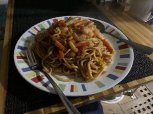 Chicken or Prawn vegetable noodle stir fry